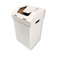 Atliekų rūšiavimo dėžė ofisui maža balta