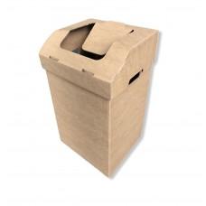 Atliekų rūšiavimo dėžė ofisui maža ruda