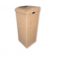 Atliekų rūšiavimo dėžė ofisui didelė ruda XXL