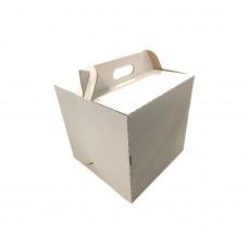 Gofruoto kartono dėžė  tortui Flat 250x250x170 E
