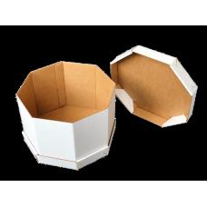 Gofruoto kartono dėžė  tortui 250x250x300 E